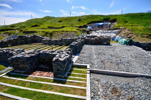 Ferryland excation site. Mansion of the master and his family.