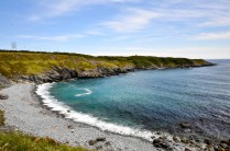 Ferryland Shore. Water was so clear with different colours of green, blue and black.