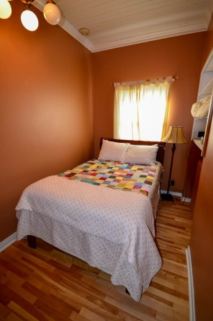 B&B at Placentia. Our tiny bedroom.