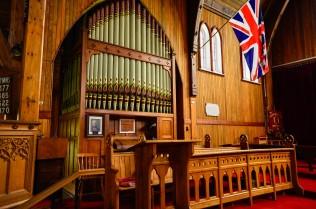 Majestic church organ. Notice the yukon jack flag.