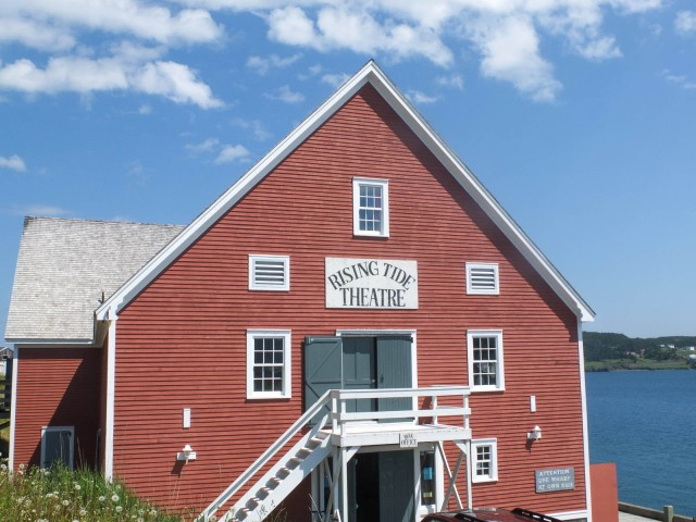 Building used to dry fish. Now it is a local performance theatre.