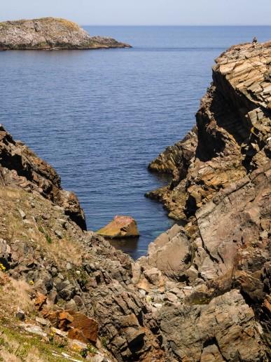 Cape Bonavista, crystal clear ocean water