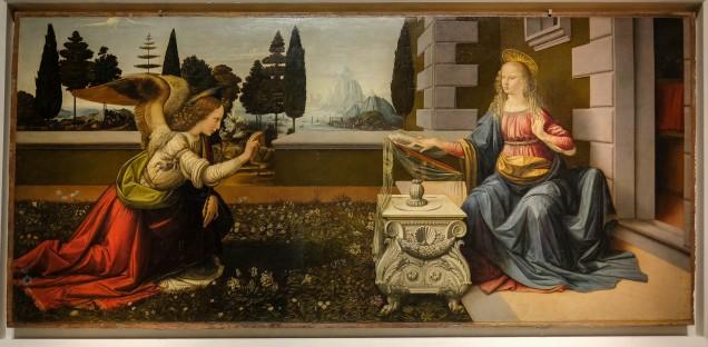 Uffizi Gallery - Leonardo Da Vinci - Annunciation