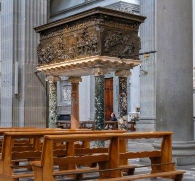 San Lorenzo Basilica - Donatello's Pulpit