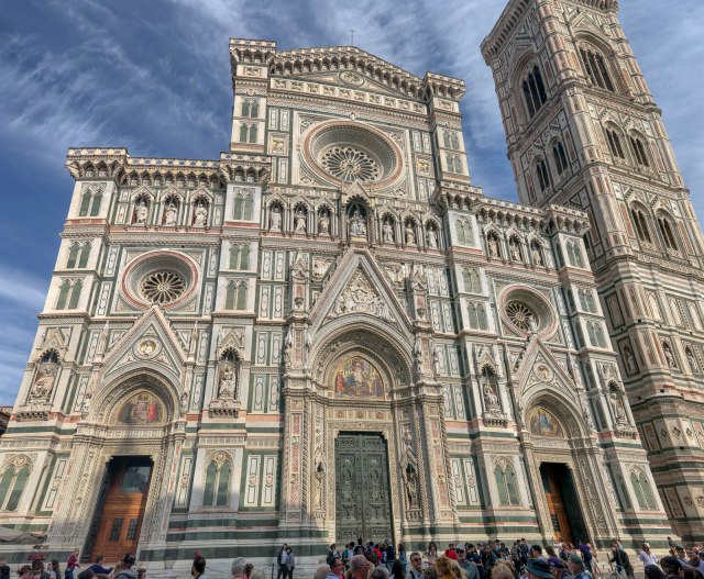 Cathedral Front Entrance - Panorama stich with 30 pictures