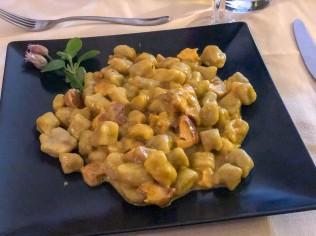 Gniocchi ai Funghi from L'angolo restaurant in Acquaviva