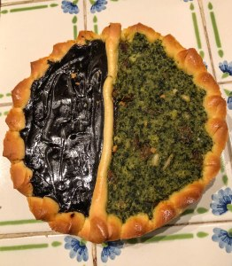 Chocolate and Green Veggies Torta (Lucca Specialty)
