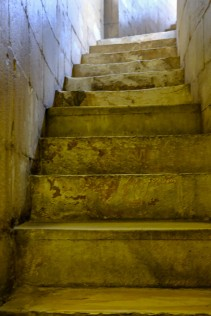 Steps to upper level of the Baptistery