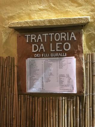 Trattoria Da Leo entrance sign