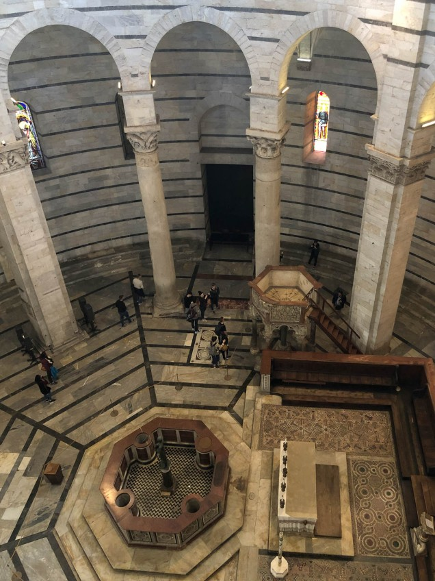 Baptistery view from upper level